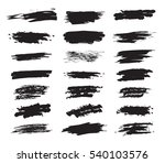 collection hand drawn brush... | Shutterstock .eps vector #540103576