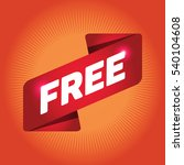 free arrow tag sign. | Shutterstock .eps vector #540104608