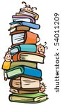 fun kids on books | Shutterstock .eps vector #54011209
