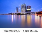 cityscape with skytree and... | Shutterstock . vector #540115336