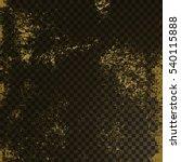 golden texture on transparent... | Shutterstock .eps vector #540115888