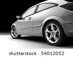 rear side view of a car on black | Shutterstock . vector #54012052