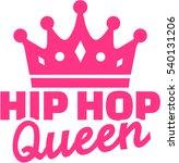 hip hop queen with crown | Shutterstock .eps vector #540131206