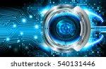 future technology  blue eye... | Shutterstock . vector #540131446