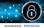 safety concept  closed padlock... | Shutterstock . vector #540132232