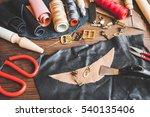 cobbler tools in workshop on...