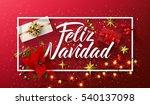 vector merry christmas card... | Shutterstock .eps vector #540137098