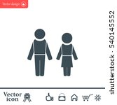 man and woman | Shutterstock .eps vector #540145552