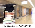 book and campus of university... | Shutterstock . vector #540145942
