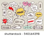 set of speech bubbles with... | Shutterstock .eps vector #540164398