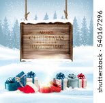 holiday christmas background... | Shutterstock .eps vector #540167296