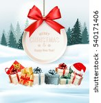 holiday christmas background... | Shutterstock .eps vector #540171406