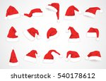 hat santa claus vector design | Shutterstock .eps vector #540178612