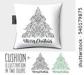 design vector pillow  cushion ... | Shutterstock .eps vector #540179875