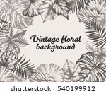 beautiful vintage floral... | Shutterstock .eps vector #540199912