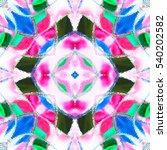melting colorful kaleidoscopic... | Shutterstock . vector #540202582