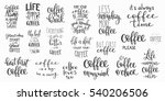 quote coffee cup typography.... | Shutterstock .eps vector #540206506