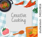 creative cooking  cooking... | Shutterstock .eps vector #540214816