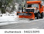 Snowplow Removing Snow In The...
