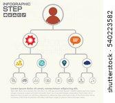 corporate organization chart... | Shutterstock .eps vector #540223582