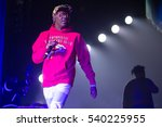 Small photo of Oakland, CA/USA - 12/14/2016: Miles Parks McCollum known as Lil Yachty performs at Oracle Arena. He appeared in a Sprite commercial with Lebron James, and endorsed by Nautica and UrbanOutfitter.