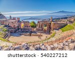 ruins of the ancient greek... | Shutterstock . vector #540227212