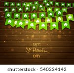 green festive flags with... | Shutterstock .eps vector #540234142