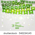 green festive flags with... | Shutterstock .eps vector #540234145