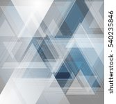 blue and grey tech triangles... | Shutterstock .eps vector #540235846