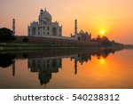 Taj Mahal Reflected In Yamuna...