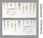 vector cards with silver and... | Shutterstock .eps vector #540242092