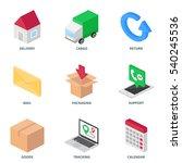transport logistics isometric... | Shutterstock .eps vector #540245536