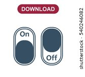 on off switch icon vector flat... | Shutterstock .eps vector #540246082