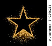 shiny gold star on black... | Shutterstock .eps vector #540246286