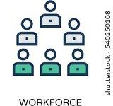 workforce vector icon | Shutterstock .eps vector #540250108