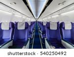 empty passenger airplane seats... | Shutterstock . vector #540250492