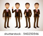 elegant people businessman | Shutterstock .eps vector #540250546