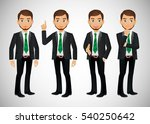 elegant people businessman | Shutterstock .eps vector #540250642