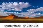 deep shadows on sossusvlei... | Shutterstock . vector #540254215