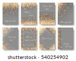 Set Of Backgrounds With Golden...
