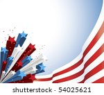 patriotic red and white flag... | Shutterstock .eps vector #54025621
