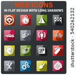 racing icons set in flat design ... | Shutterstock .eps vector #540262132