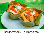 steamed fish with curry paste ...   Shutterstock . vector #540265252