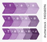 infographic template purple... | Shutterstock .eps vector #540268396
