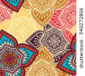 ethnic floral seamless pattern. ... | Shutterstock . vector #540272806