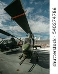 Small photo of NEW YORK - CIRCA 2012: Intrepid sea&air space museum in NYC. Flight deck. It is a national historic landmark which has one of the most varied aircraft collections in the nation.