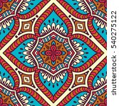 ethnic floral seamless pattern. ... | Shutterstock . vector #540275122