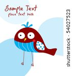 cute little bird card | Shutterstock .eps vector #54027523