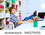 educational concept. a boy...   Shutterstock . vector #540279355