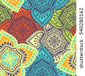 ethnic floral seamless pattern. ... | Shutterstock . vector #540280162
